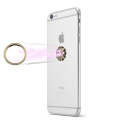 CASEME Magnetisk Mobilholder med Finger Spinner til iPhone, Samsung, m.fl. Guld