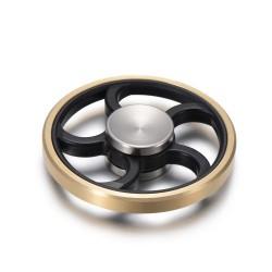 Hjul Finger Spinner XOSOY Sort Guld