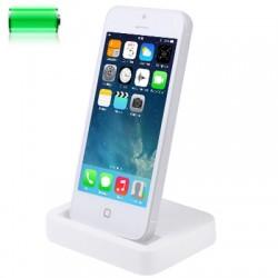 Lightning 8PIN Dock og Bordlader til iPhone 5S/5C/5, iPod Touch 5, iPad mini - Hvid