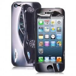 Aston Martin - Sort - Mønster / Color Shining & Krystal Beskyttende Skin Sticker til iPhone 5